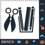 Icono de las herramientas de la oficina completamente ilustración del vector