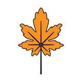 Icono de las hojas de otoño Imagen de archivo