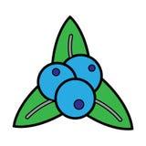 Icono de las hojas de otoño Fotografía de archivo libre de regalías