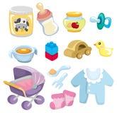 Icono de las mercancías del bebé de la historieta Imagen de archivo libre de regalías