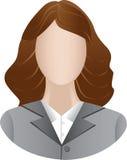 Icono de las mujeres de negocios Imagenes de archivo