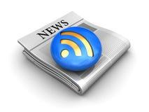 Icono de las noticias Fotografía de archivo libre de regalías