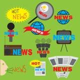 Icono de las noticias Imágenes de archivo libres de regalías