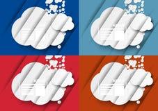 Icono de las noticias con las nubes Fotos de archivo