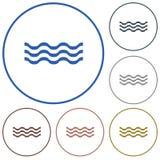 Icono de las ondas de agua Imagen de archivo