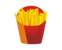 Icono de las patatas fritas Imagenes de archivo