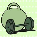Icono de las pesas de gimnasia Imágenes de archivo libres de regalías