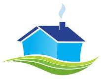 Icono de las propiedades inmobiliarias Foto de archivo libre de regalías