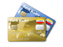 Icono de las tarjetas de un crédito Fotos de archivo libres de regalías