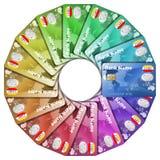 Icono de las tarjetas de un crédito coloreadas Fotografía de archivo libre de regalías