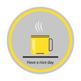 Icono de las tazas de café Concepto: un buen día Foto de archivo libre de regalías