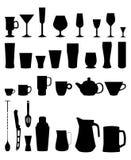 Icono de las tazas de los vidrios de la barra Fotos de archivo