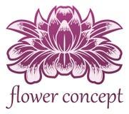 Icono de Lilly Flower Floral Design Concept Foto de archivo
