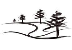Icono de los árboles Imagen de archivo libre de regalías
