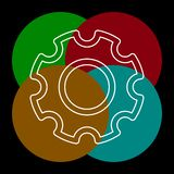 Icono de los ajustes de los engranajes - mecanismo de engranaje de la rueda dentada libre illustration