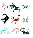 Icono de los animales Fotografía de archivo