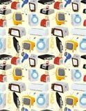 Icono de los aparatos electrodomésticos de la historieta Imagenes de archivo