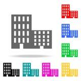 Icono de los apartamentos Elementos de las propiedades inmobiliarias en iconos coloreados multi Icono superior del diseño gráfico libre illustration