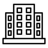 Icono de los apartamentos de la hipoteca, estilo del esquema libre illustration