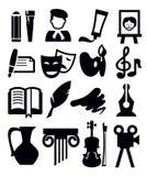 Icono de los artes Imagen de archivo libre de regalías