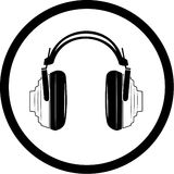 Icono de los auriculares del vector Foto de archivo