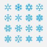 Icono de los copos de nieve Foto de archivo