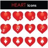 Icono de los corazones Fotografía de archivo