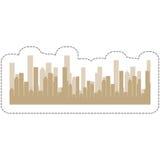 Icono de los edificios de la ciudad foto de archivo