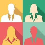 Icono de los empresarios fijado incluyendo varones y hembras Imagenes de archivo