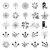 Icono de los fuegos artificiales Fotografía de archivo libre de regalías