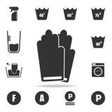 Icono de los guantes Sistema detallado de iconos del lavadero Diseño gráfico de la calidad superior Uno de los iconos de la colec stock de ilustración