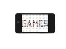 Icono de los juegos de Iphone Imágenes de archivo libres de regalías