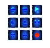 Icono de los media Imagen de archivo libre de regalías