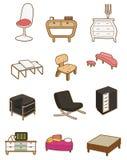Icono de los muebles de la historieta Fotos de archivo