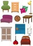 Icono de los muebles de la historieta Fotografía de archivo