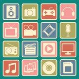 Icono de los multimedia Fotografía de archivo