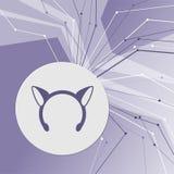 Icono de los oídos de los carnavales de la Navidad en fondo moderno abstracto púrpura Las líneas en todas las direcciones Con el  stock de ilustración