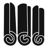 Icono de los palillos de canela, estilo simple Imágenes de archivo libres de regalías