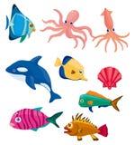 Icono de los pescados de la historieta Imagen de archivo libre de regalías