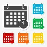 Icono de los plazos de la reunión stock de ilustración