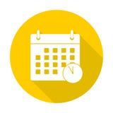 Icono de los plazos de la reunión con la sombra larga stock de ilustración
