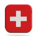 Icono de los primeros auxilios Fotografía de archivo