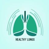 Icono de los pulmones del vector Imagen de archivo