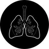 Icono de los pulmones del vector Fotografía de archivo