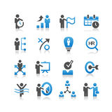 Icono de los recursos humanos del negocio stock de ilustración