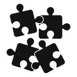 Icono de los rompecabezas, estilo simple stock de ilustración