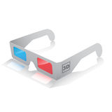 icono de los vidrios 3D ilustración del vector