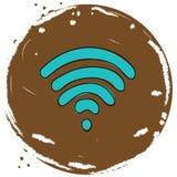 Icono de los Wi Fi fotos de archivo