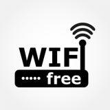 Icono de los Wi Fi Foto de archivo libre de regalías
