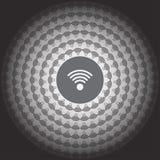 icono de los wi fi en fondo de la falta de definición Foto de archivo